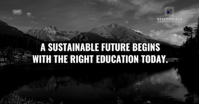 ESG educational content available through Ethos and the Responsible Investment Institute™